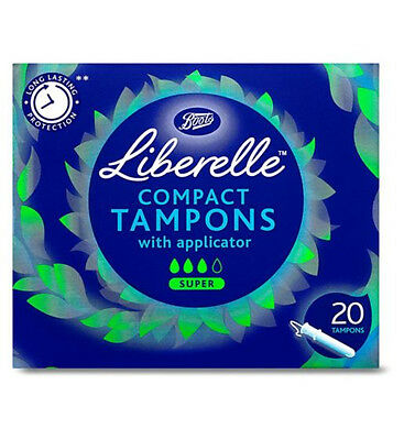 Boots Liberelle compact applicator tampon super 20s
