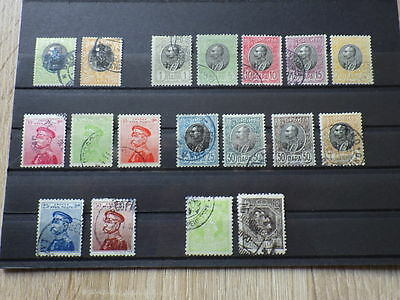 18x Stamps Timbres SERBIE SERBIA Used  MH * 1903-1904 et divers