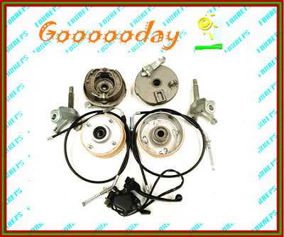 4 stud front drum twin brake throttle system for Gokart buggy Project dmk4xlc