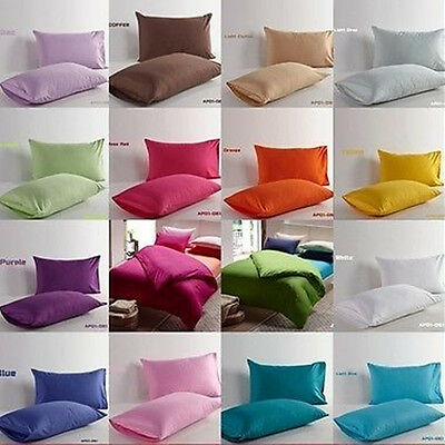 New Pair Cotton Pillowcases/Decorative Couch Cushion Cover in Various Colours