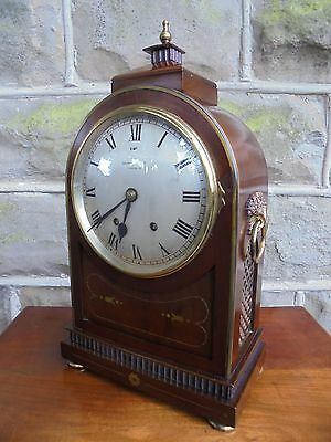 Antique Mahogany & Brass Bracket Clock Mappin & Webb London