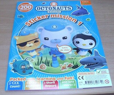 Octonauts magazine Sticker Mission 1 Packed with Learning & Fun.  200 + Stickers