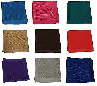 Premium Hand Made Men Square Knitted Wedding Event pocket Hanky Handkerchief