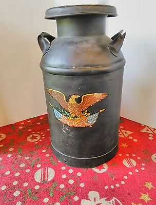 RARE 1946 Dairy Farm HOOD PLANT REGISTERED MILK CAN
