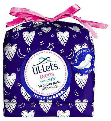 Lil-Lets teens Ultra Night Towels with Wings 10 Pack