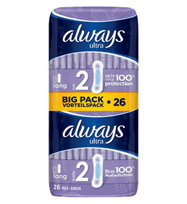 Always Ultra Long (Size 2) Sanitary Towels 26 Pads