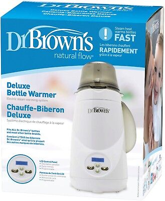 Dr. Browns Deluxe Baby Bottle Warmer Steam System With Auto Shut Off New In Box