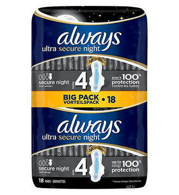 Always Secure Night Ultra 18 Pads