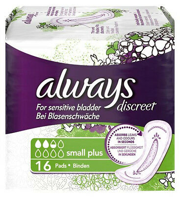 Always Discreet Incontinence Pads Small Plus x 16