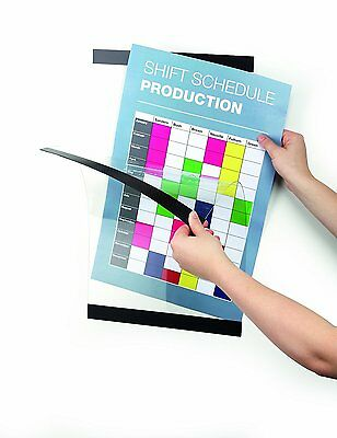 DURAFRAME 11 x 17 Inches Self-Adhesive Magnetic Sign Holder, Tabloid, 2 Pack