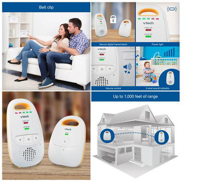 Baby Monitor With One Parent Unit Safe Sound AudioSafe Sound Digital Battery