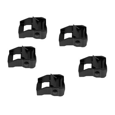 5x Cam Lever Flap Buckle Tie Down Strap Buckle for 38mm 1.5 inch Webbing Blk