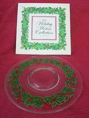 Vintage CHRISTMAS Avon Holiday Hostess Collection Platter With Box