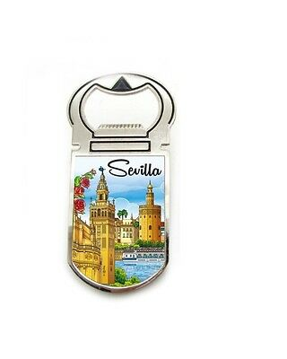 Seville tower of gold monuments Souvenir Fridge Magnet Bottle Opener spain