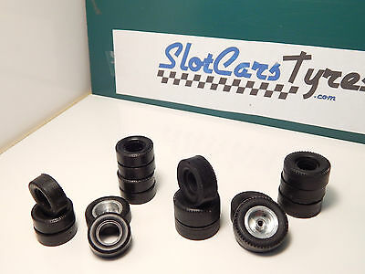 8 + 8 urethane front and rear tyres for K&B 1/32 - Uk