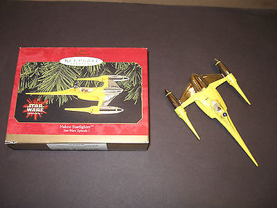 "Hallmark Keepsake Ornament For 1999 ""naboo Starfighter"" Star Wars Episode 1"