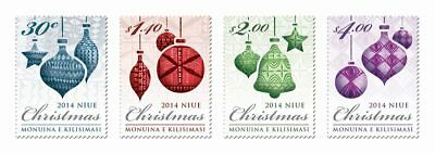 2014 NIUE -  CHRISTMAS - SG:1129/1132t - UNMOUNTED MINT
