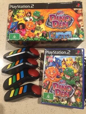 BUZZ JUNIOR DINO DEN SONY PLAYSTATION 2 PS2 GAME Boxed Complete