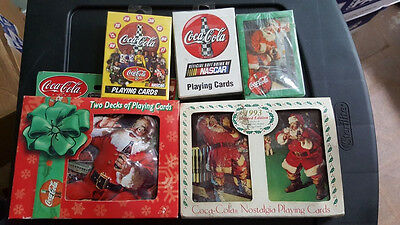 Coca Cola Playing Cards 5 Sets NEW