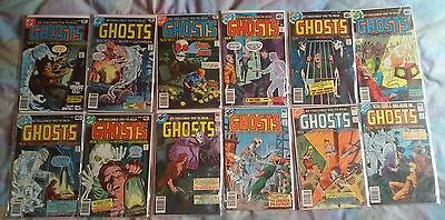 GHOSTS comic books - lot of 12 (issue #'s in description) DC comics 1971-1982