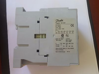 100 Amp 3Phase contactor. 230 VOLT  COIL. Din rail mounted.