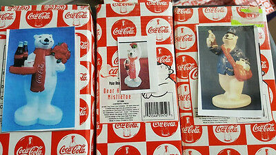 17 Coca Cola Bear Figurines NEW