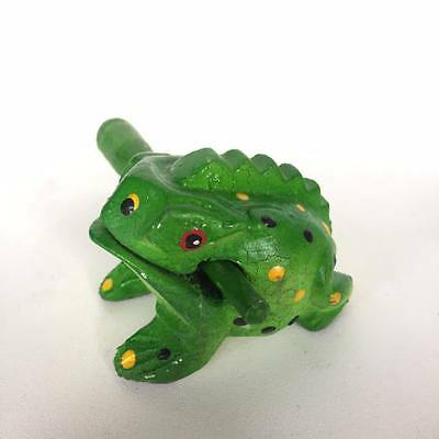 Thai Frog Wooden Toy Carved Animal Color Musical Sound Croaking Handmade Frog