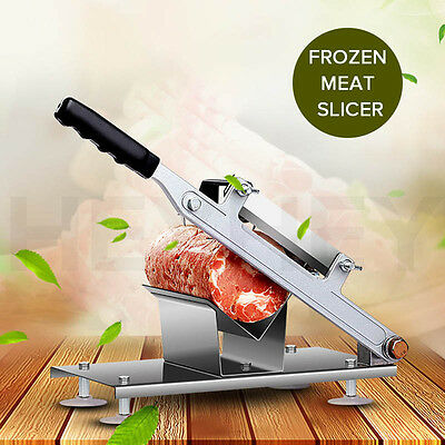 Stainless Steel Manual Frozen Meat Slicer Beef Slicing Machine No Electricity