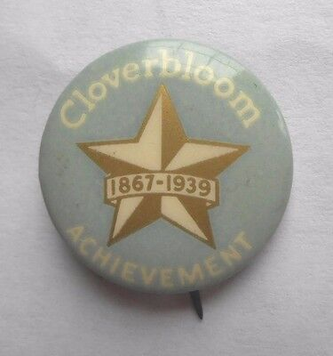 1939 Armour And Company Anniversary Lapel Pin --- Cloverbloom Cheese, Butter