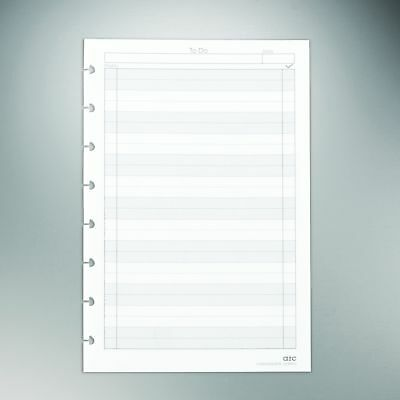 """Staples? Arc """"To-Do"""" Notebook Filler Paper, Junior-sized, White, 50 Sheets"""