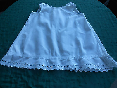 Snow White Child's Slip In Unused Cond. / White Work Lace,  Early 20Th. Century