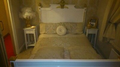 antique French bed, 19th century, restored