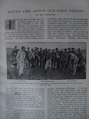 Golf Windermere Leith Links Old Tom Morris Rare Victorian Antique Article 1896