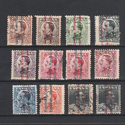 ESPAÑA / SPAIN 1930s SELECTION OF MINT & USED STAMPS WITH REPUBLICAN OVERPRINTS