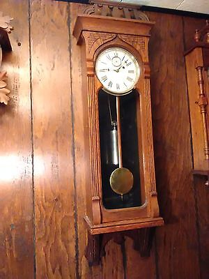 Antique Gilbert #64 Regulator weight driven wall clock