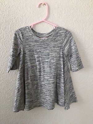 Old Navy Toddler Heather Grey 3/4 Sleeve Cotton Dress 2t