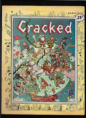 """1958 1st ISSUE """" Cracked """"  Magazine RARE COMPLETE & ORIGINAL FIRST ISSUE !"""