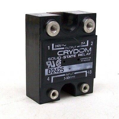 NEW IN BOX CRYDOM D2425 Solid State Relay,Input,VDC,Output,VAC FREE SHIP BM