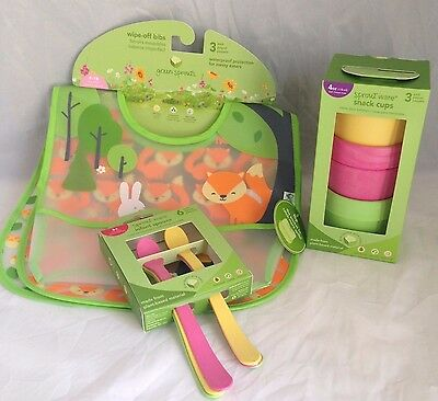 green sprouts by i play. Value Bundle Bib, Cups and Spoons