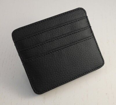 Magic Wallet Premium In Pelle Ecologica Nera!!!! Made In Italy!!