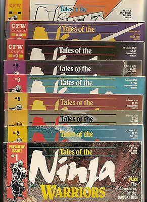 Tales Of The Ninja Warriors Comic Book Issue  Lot  1, 2, 3, 5, 6, 8, 9, 10, & 11