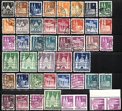 40 GERMANY Deutsche Post 1948-1951 Postage Stamps Collection IMPERF MLH USED