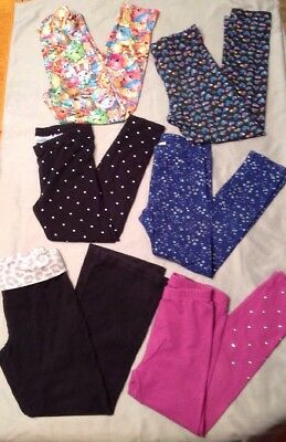 Lot Of Six Girls SZ 6 Leggings