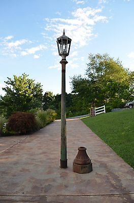 Pair of Early Street Lights, 15 Feet Tall, Cast iron and aluminum, beautiful