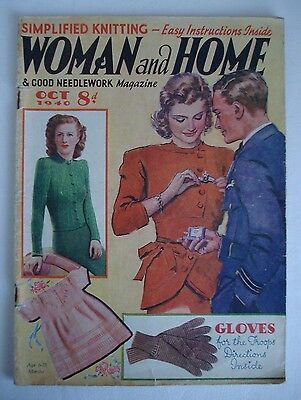 Collectors/ Vintage Woman And Home Magazine October 1940 - Free P&p
