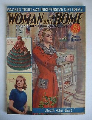 Collectors/ Vintage Woman And Home Magazine December 1940 - Free P&p