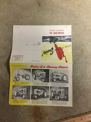 Vintage Massey Harris Introduces New Depth O-Matic System Brochure