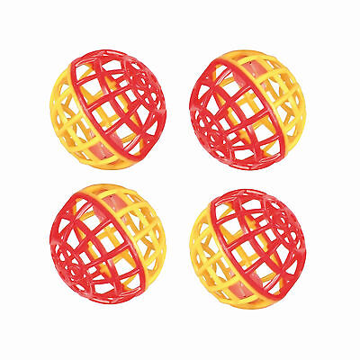 4 x Trixie Rattling Ball With Bell Cat Bird Plastic Kitten Pack Toy