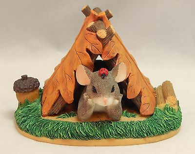 Charming Tails Fitz and Floyd CAMPING OUT #83/703 Figurine In Original Box
