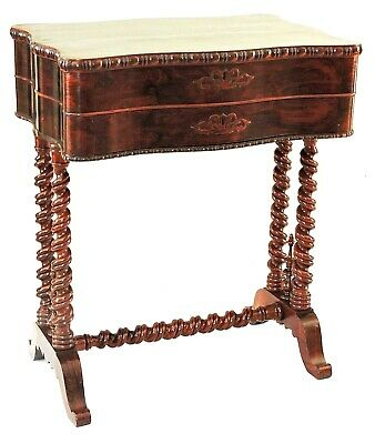 c1845-51 Rococo work table, nightstand, Croome, Boston, Brazilian rosewood, 24w